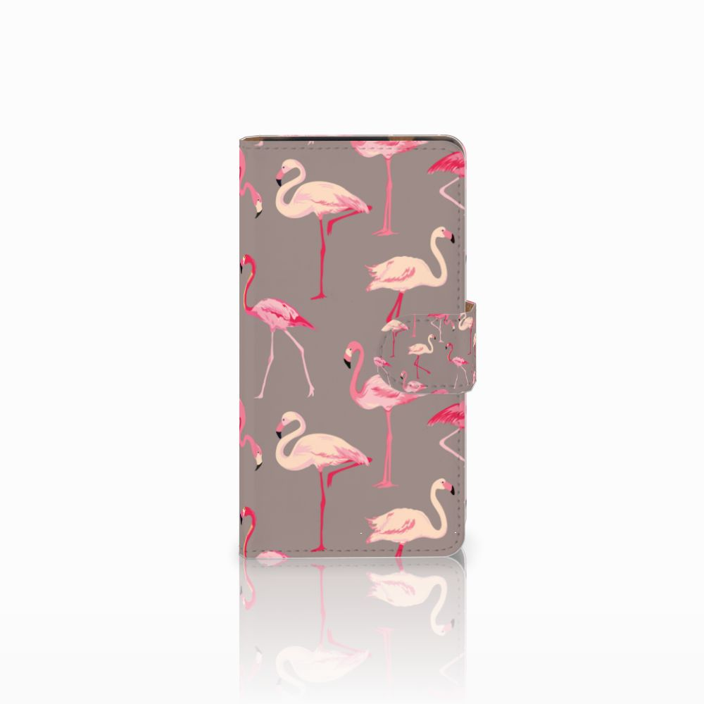 HTC Desire 601 Uniek Boekhoesje Flamingo