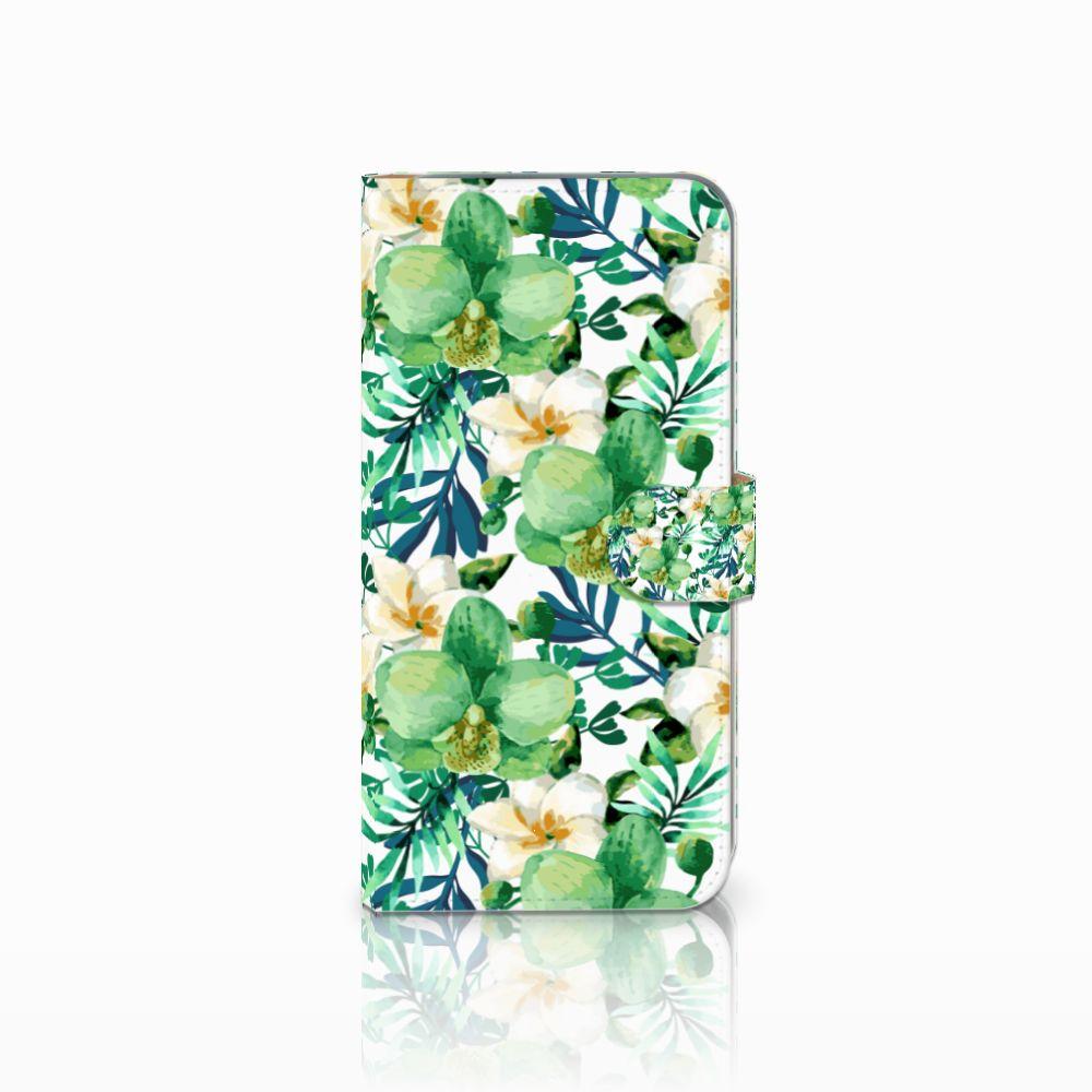 HTC Desire 10 Pro Uniek Boekhoesje Orchidee Groen
