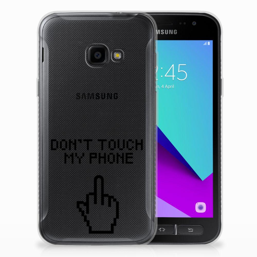Samsung Galaxy Xcover 4 Uniek TPU Hoesje Finger DTMP