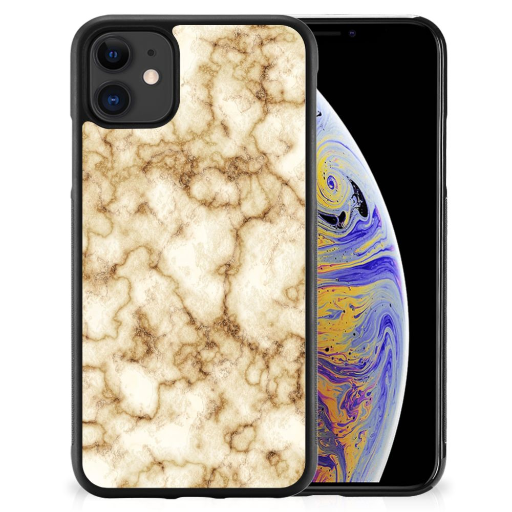 Apple iPhone 11 Gripcase Marmer Goud