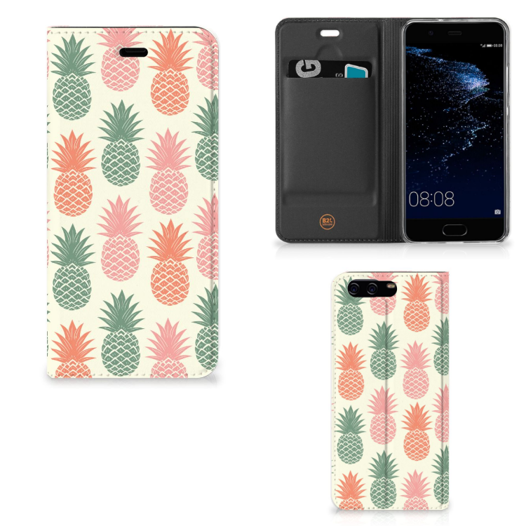 Huawei P10 Flip Style Cover Ananas