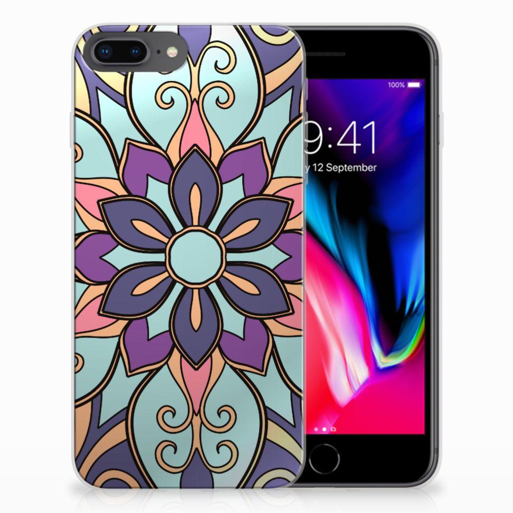 Apple iPhone 7 Plus | 8 Plus TPU Case Purple Flower