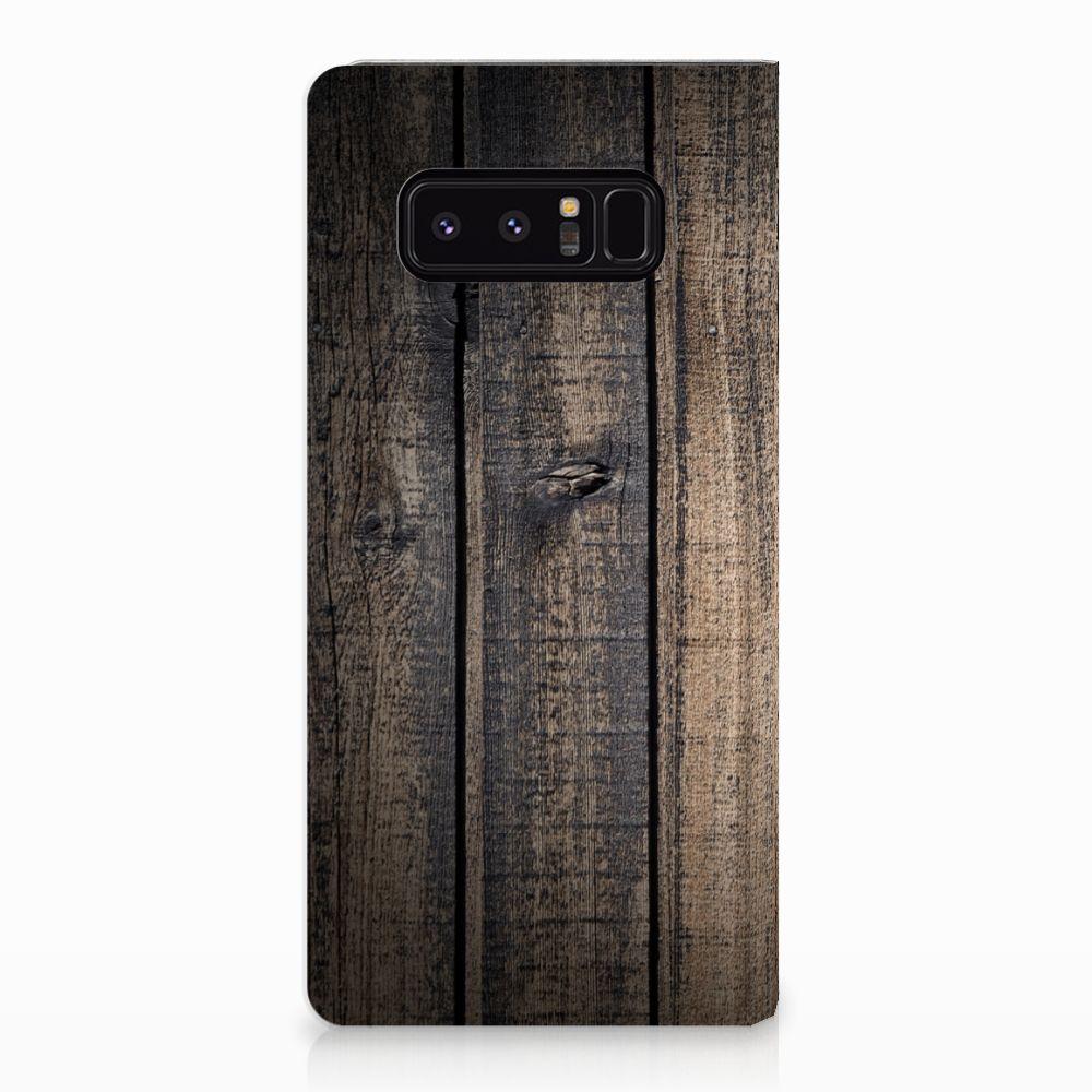 Samsung Galaxy Note 8 Standcase Hoesje Design Steigerhout
