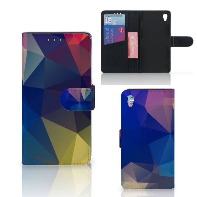 Sony Xperia Z3 Bookcase Polygon Dark