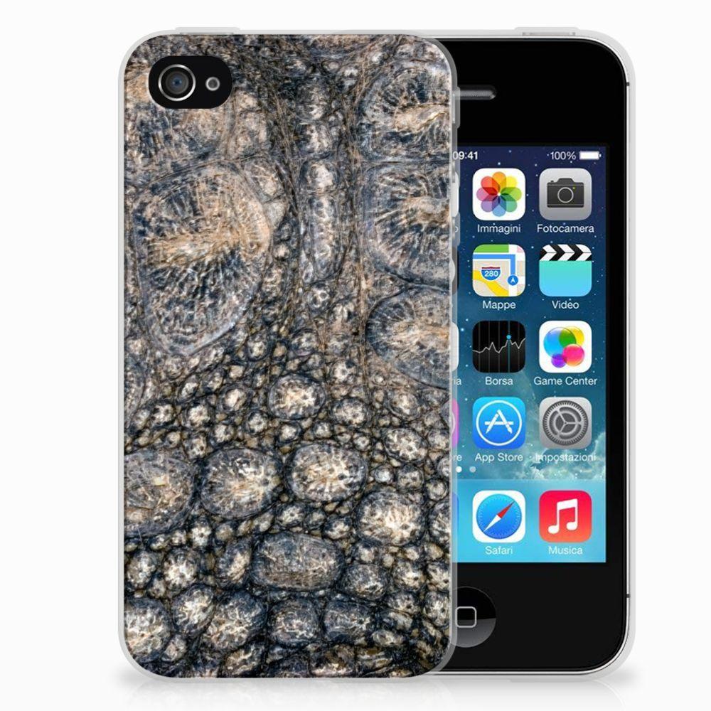 Apple iPhone 4   4s TPU Hoesje Krokodillenprint