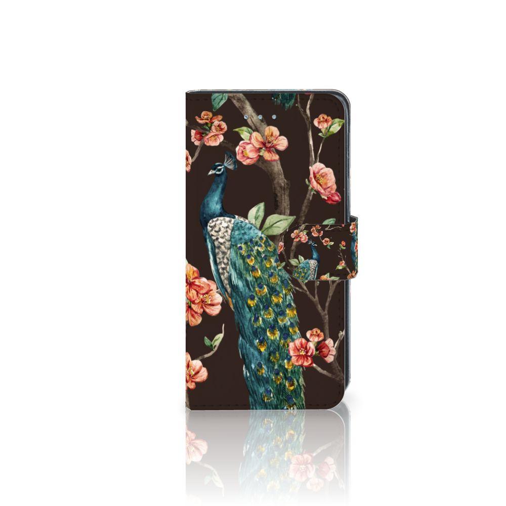 Samsung Galaxy J3 2016 Boekhoesje Design Pauw met Bloemen
