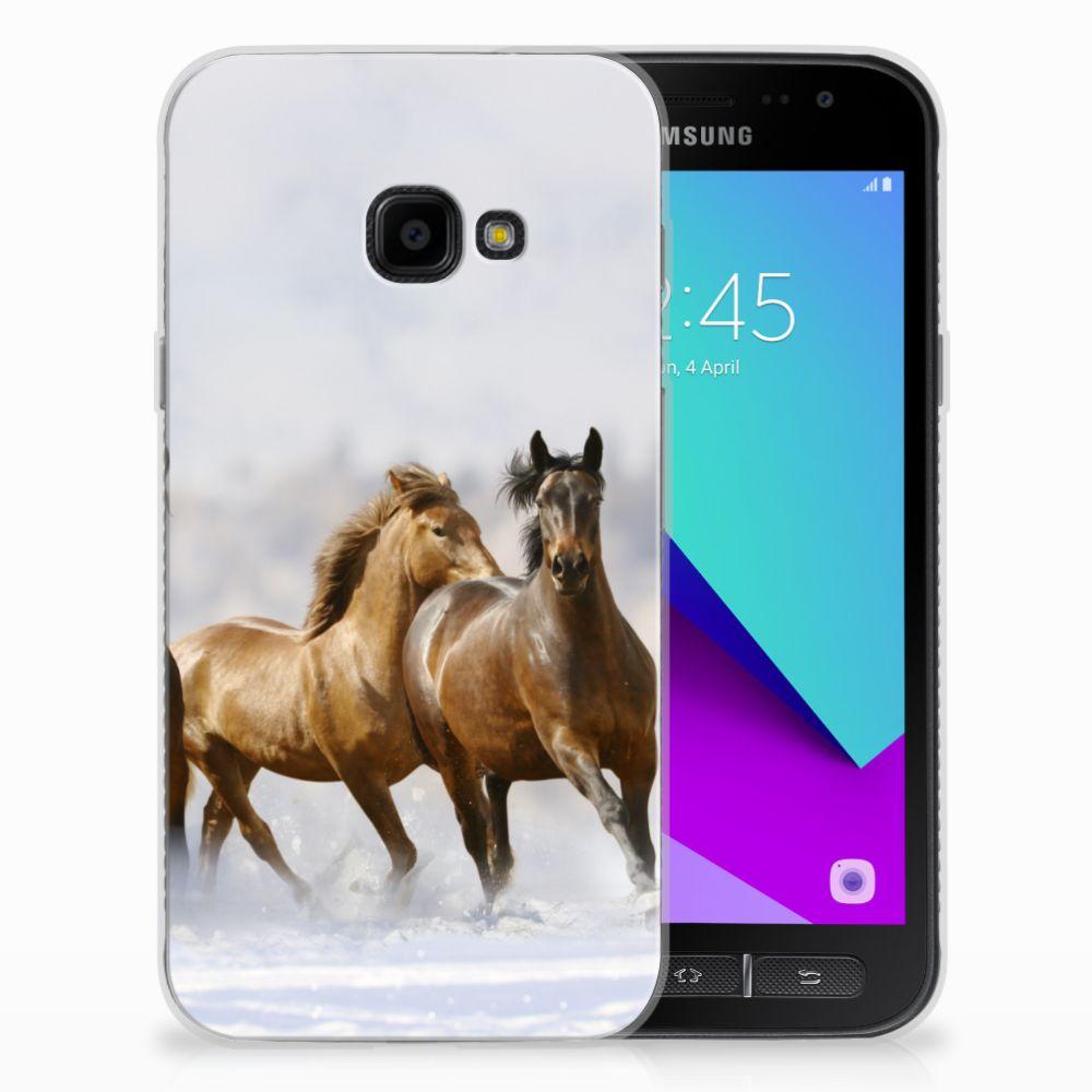 Samsung Galaxy Xcover 4 Uniek TPU Hoesje Paarden