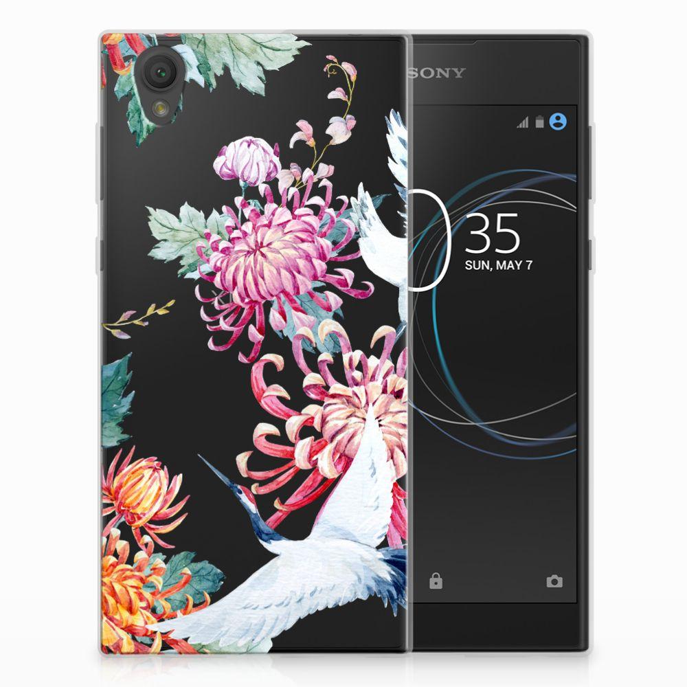 Sony Xperia L1 Uniek TPU Hoesje Bird Flowers
