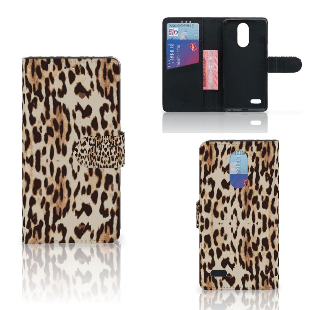 LG K10 (2017) Telefoonhoesje met Pasjes Leopard