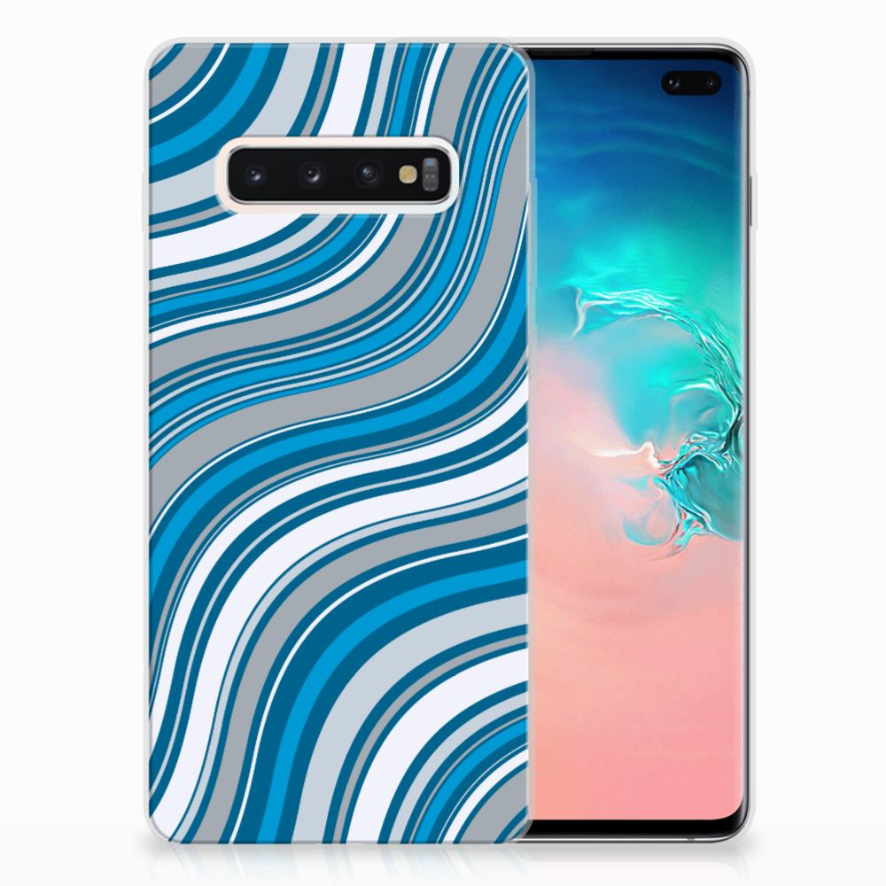 Samsung Galaxy S10 Plus TPU bumper Waves Blue