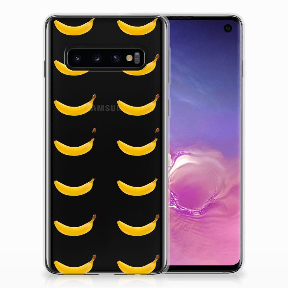 Samsung Galaxy S10 Siliconen Case Banana