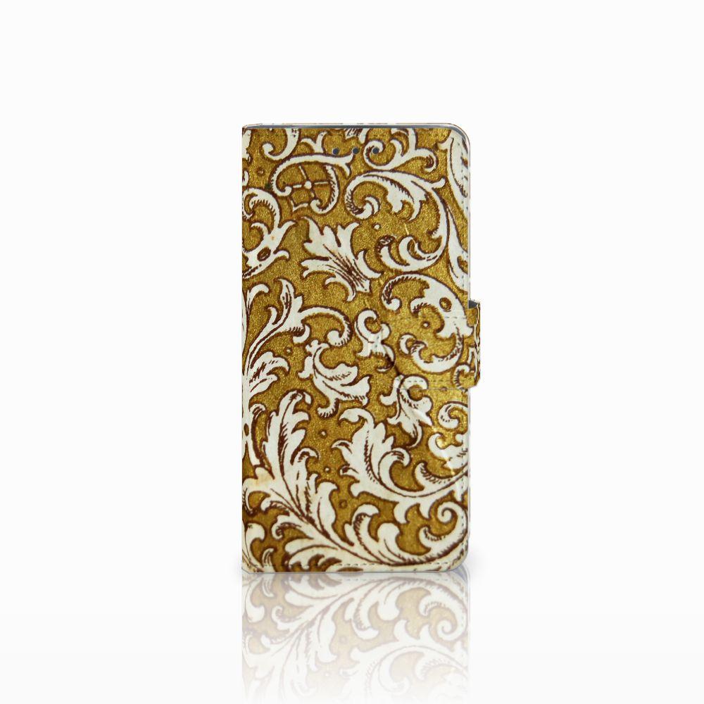 Wallet Case Motorola Moto X4 Barok Goud