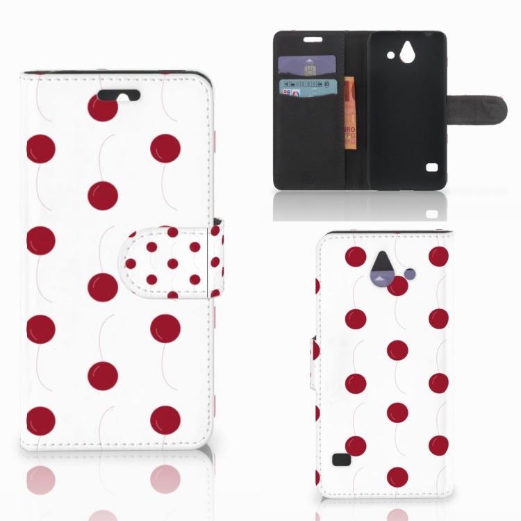 Huawei Ascend Y550 Book Cover Cherries