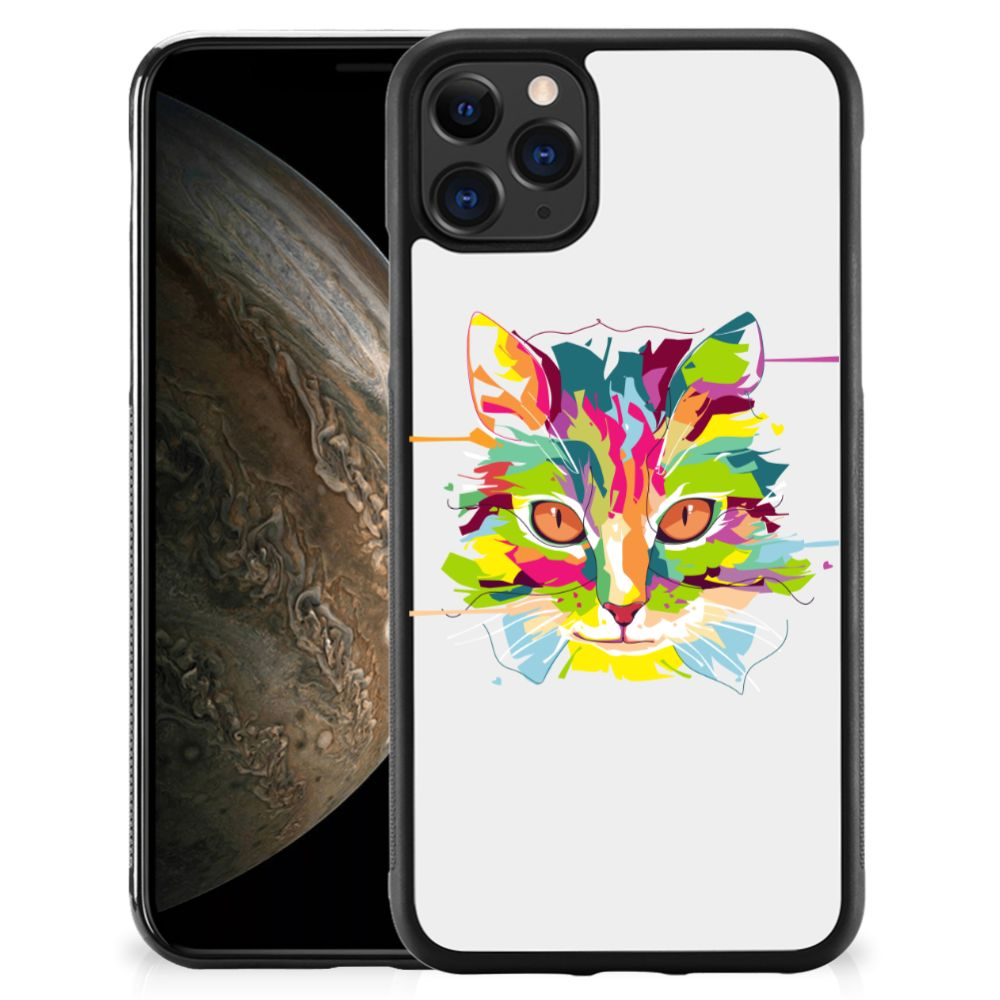 Apple iPhone 11 Pro Bumper Hoesje Cat Color