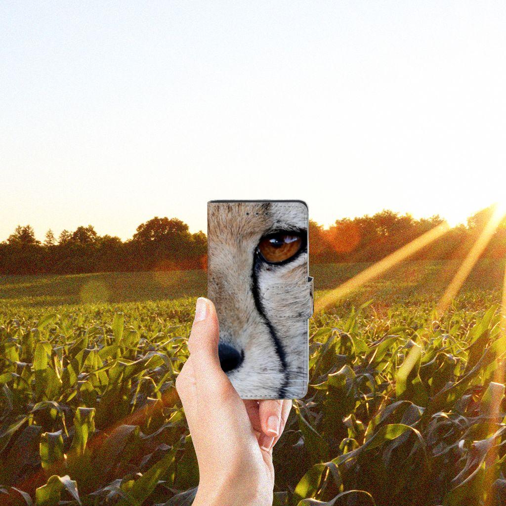 Samsung Galaxy S5   S5 Neo Telefoonhoesje met Pasjes Cheetah