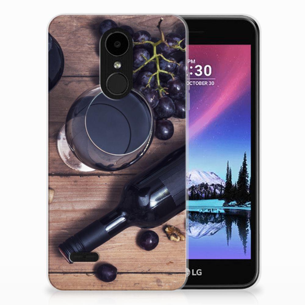 LG K4 (2017) Siliconen Case Wijn