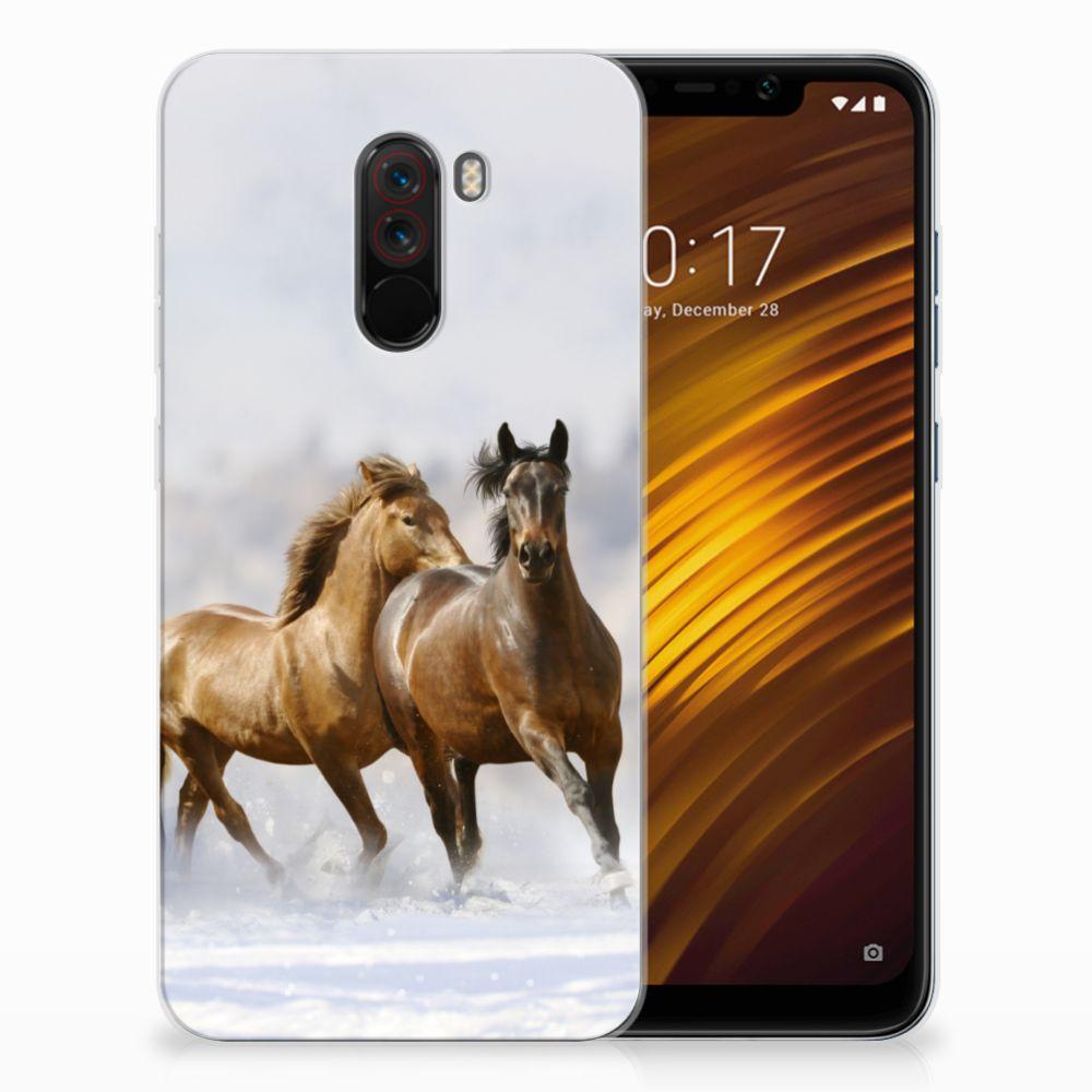 Xiaomi Pocophone F1 Leuk Hoesje Paarden