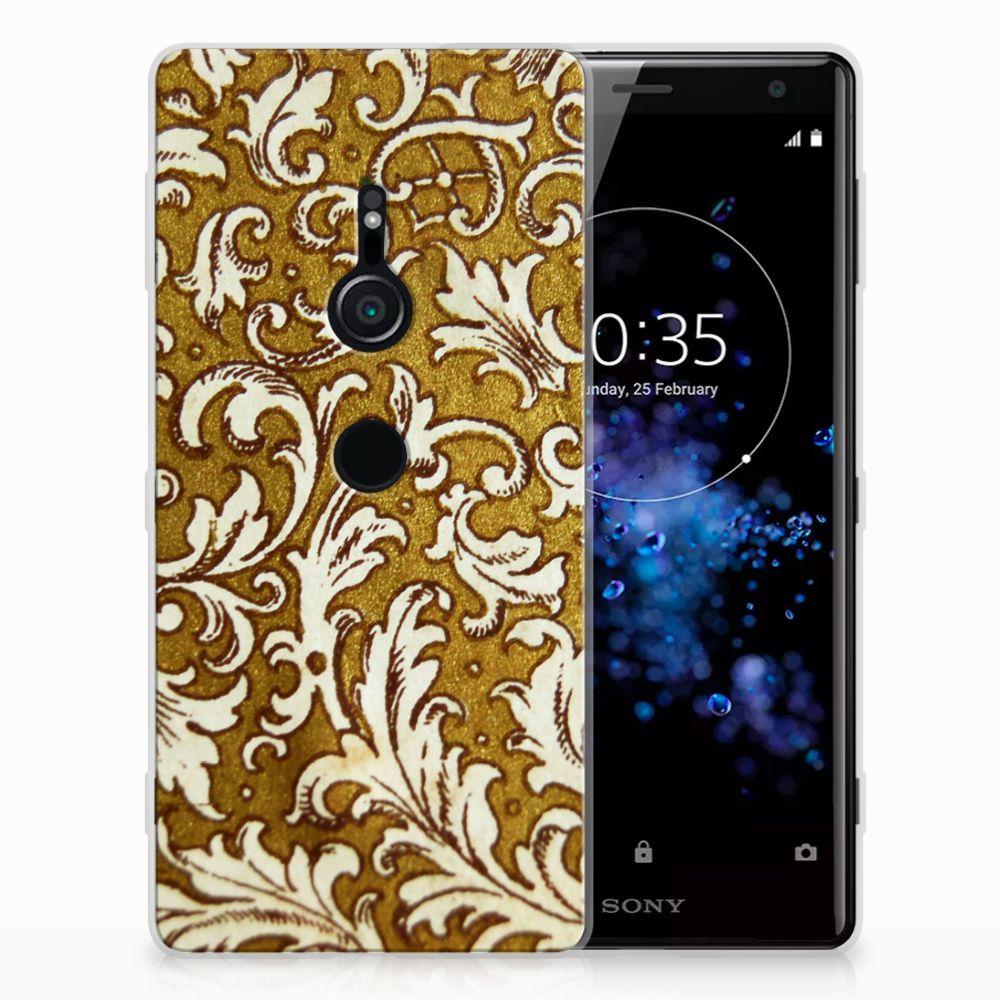 Sony Xperia XZ2 TPU Hoesje Design Barok Goud