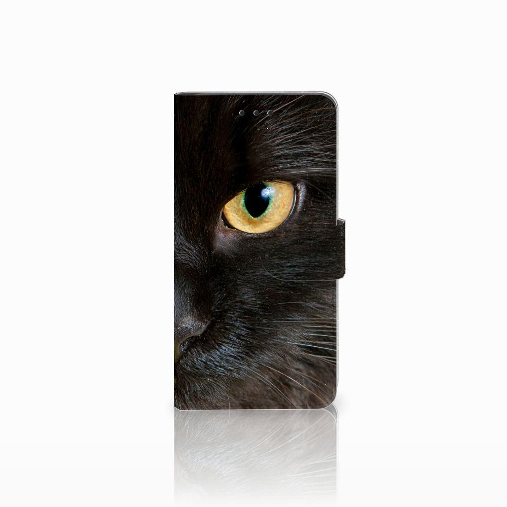 Huawei G8 Uniek Boekhoesje Zwarte Kat