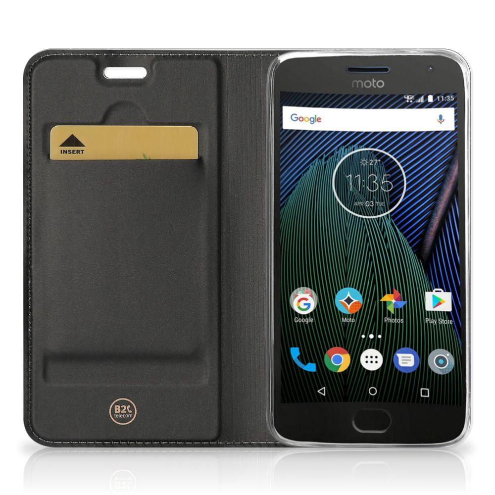 Motorola Moto C Plus Hoesje maken Zwarte Kat
