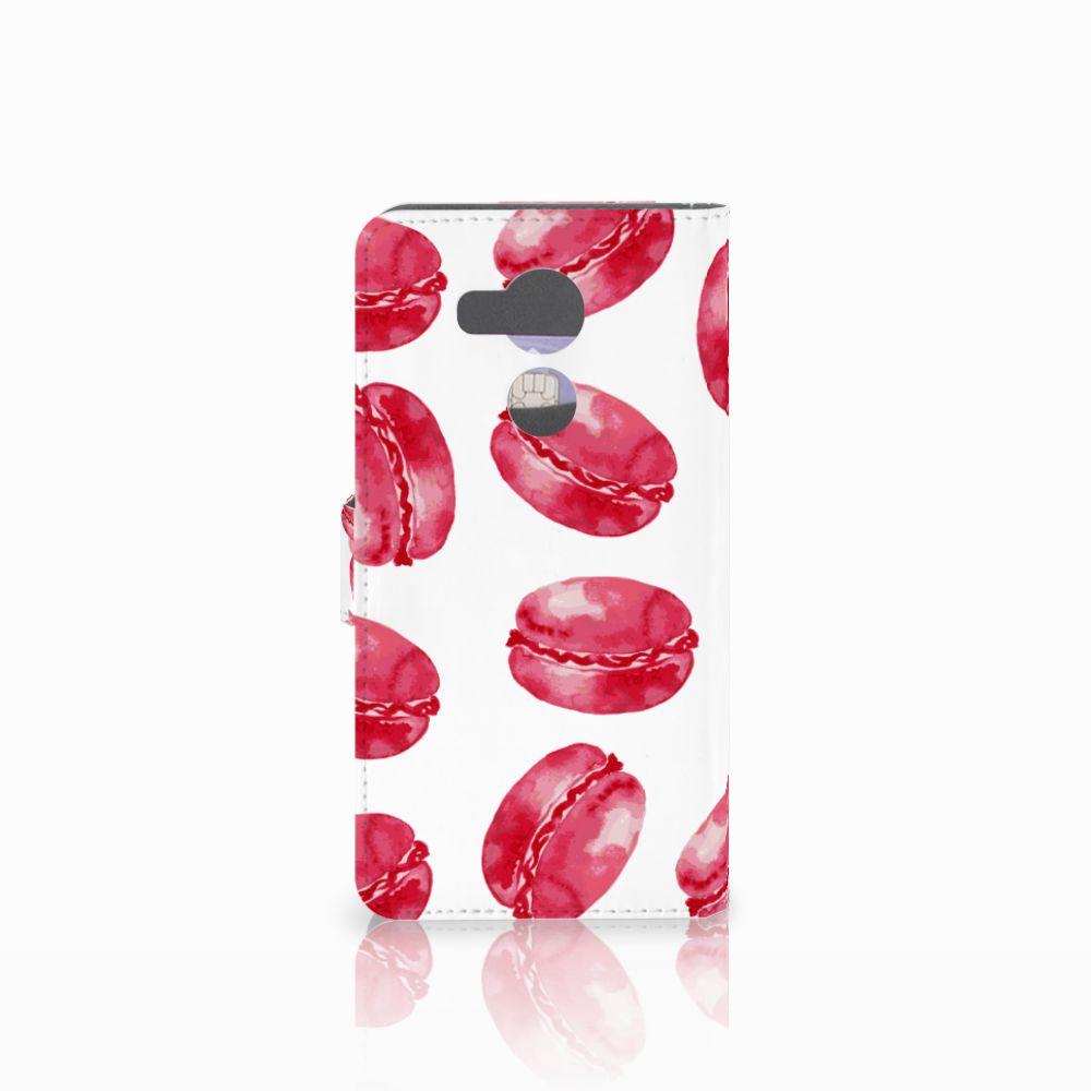 Huawei Mate 8 Book Cover Pink Macarons