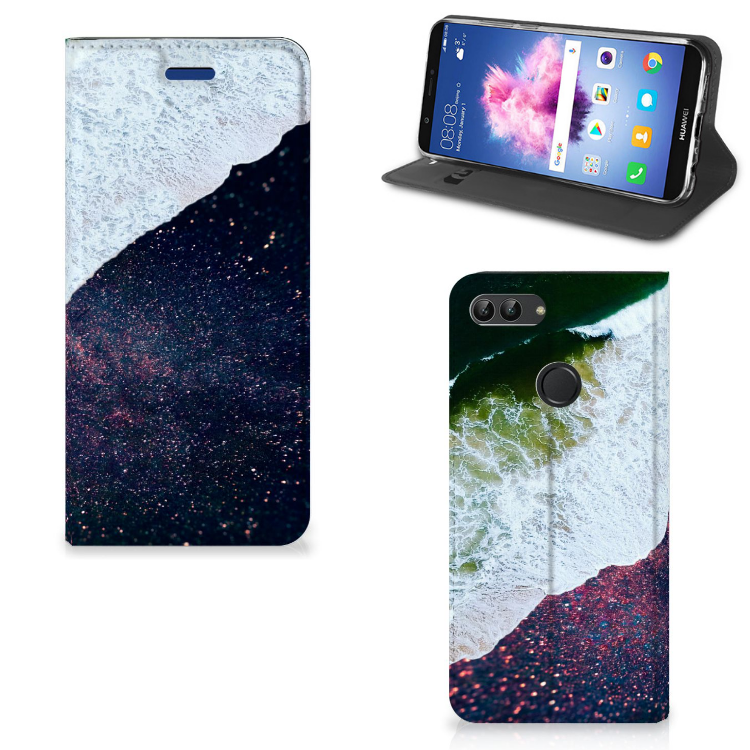 Huawei P Smart Stand Case Sea in Space