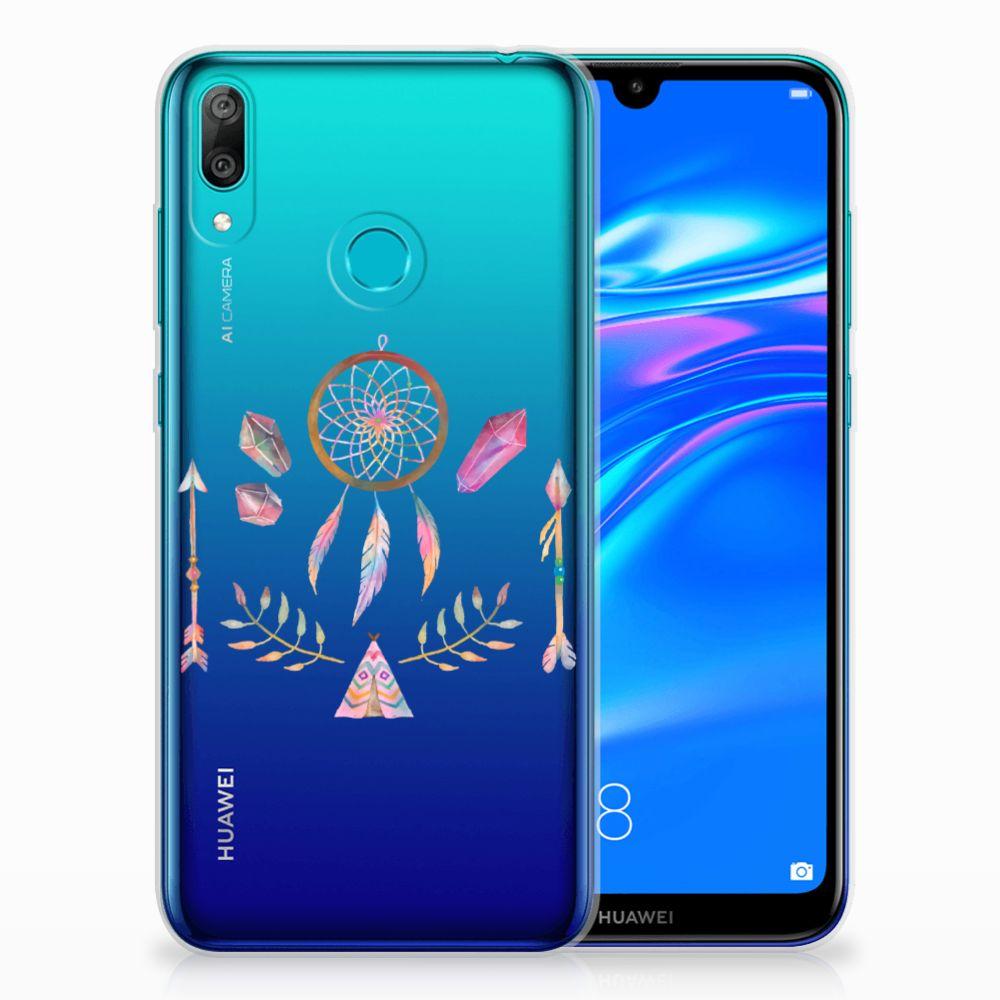 Huawei Y7 2019 Telefoonhoesje met Naam Boho Dreamcatcher