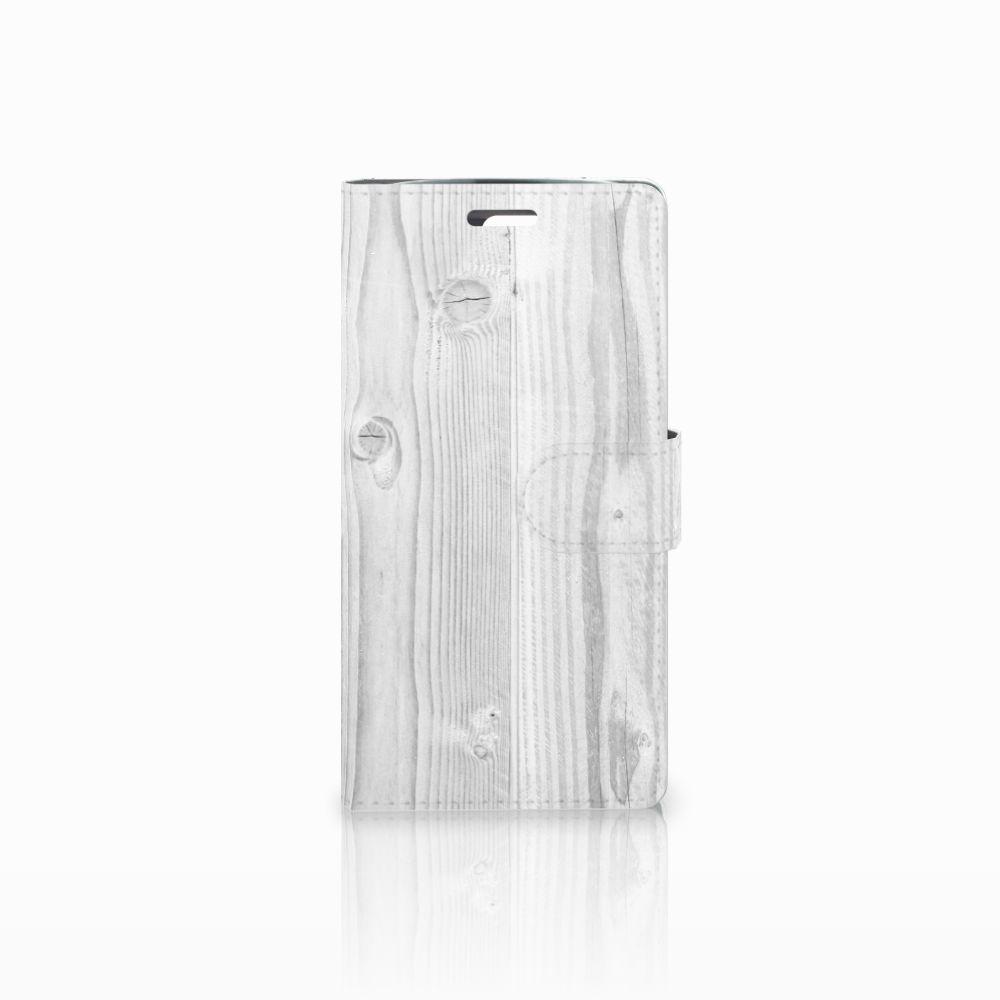 LG K10 2015 Boekhoesje Design White Wood