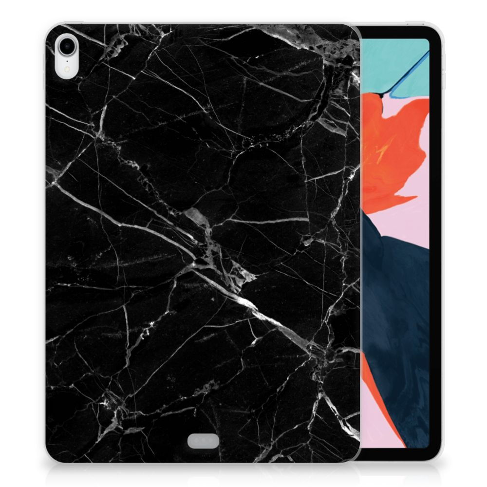 Apple iPad Pro 11 inch (2018) Uniek TPU Hoesje Marmer Zwart