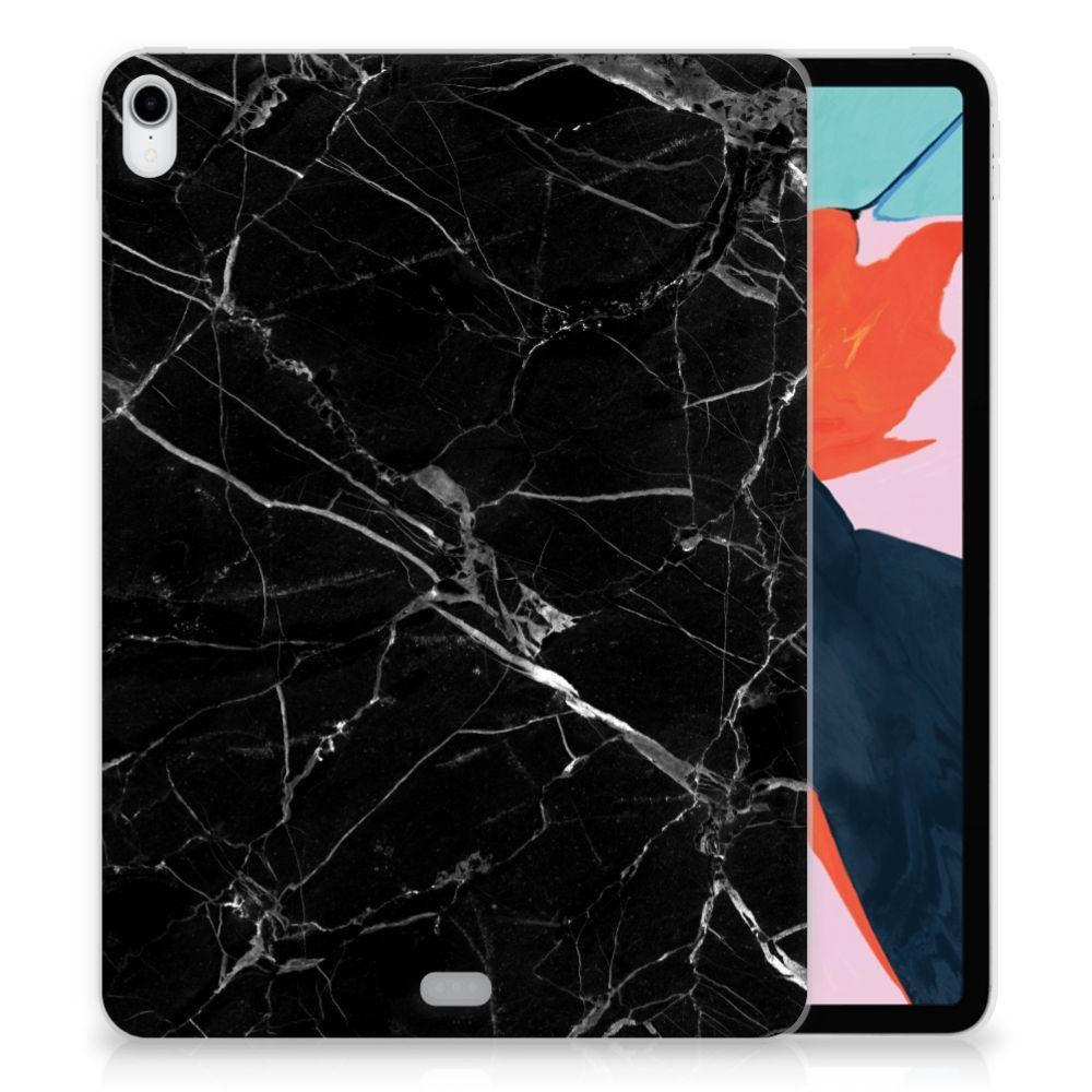 Apple iPad Pro 11 inch (2018) TPU Siliconen Hoesje Marmer Zwart