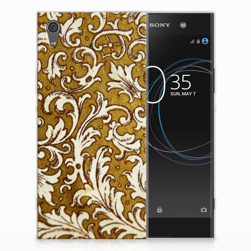 Sony Xperia XA1 Ultra TPU Hoesje Design Barok Goud