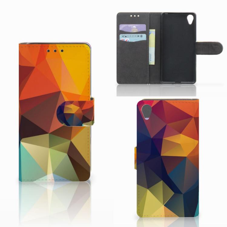 Sony Xperia X Bookcase Polygon Color