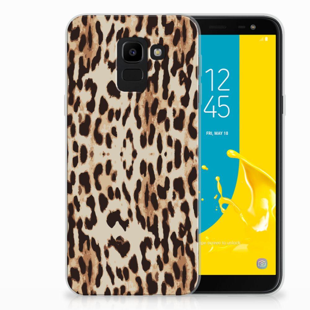 Samsung Galaxy J6 2018 TPU Hoesje Leopard