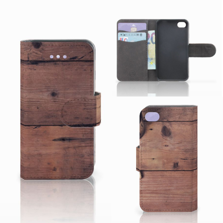 Apple iPhone 4 | 4S Book Style Case Old Wood