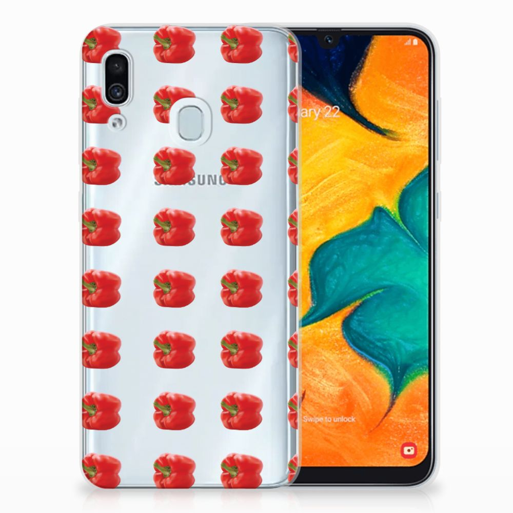 Samsung Galaxy A30 Siliconen Case Paprika Red