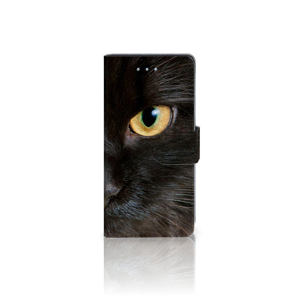 Huawei P9 Lite Uniek Boekhoesje Zwarte Kat