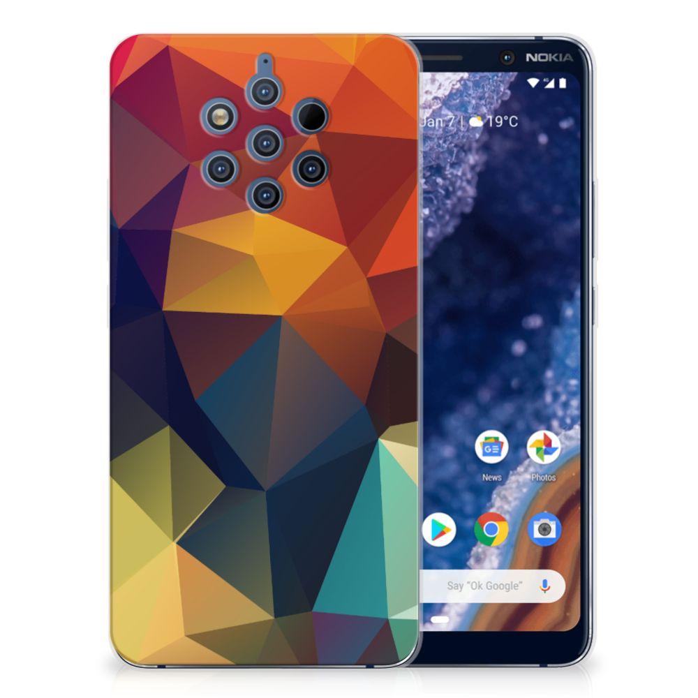 Nokia 9 PureView TPU Hoesje Polygon Color