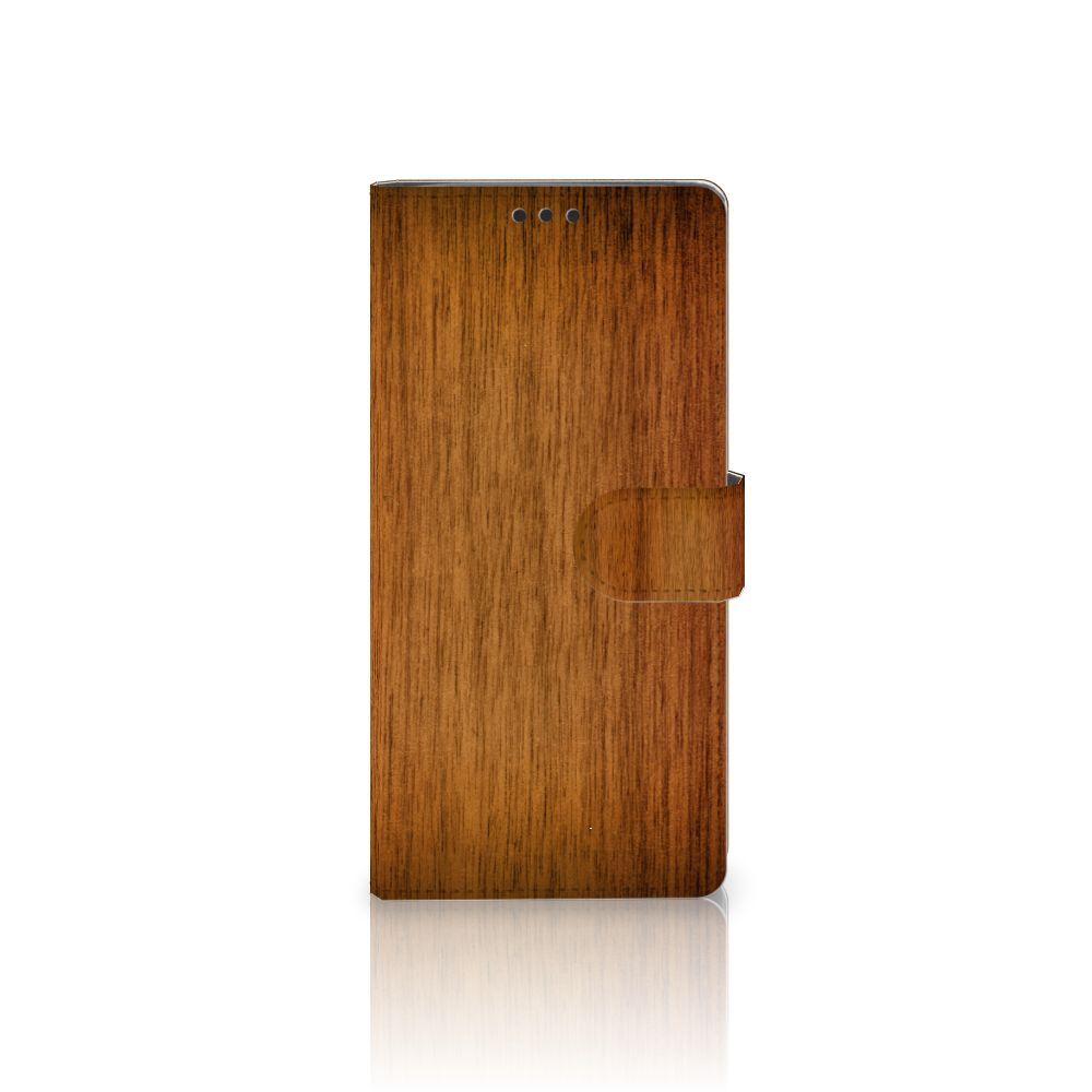 Sony Xperia XA Ultra Book Style Case Donker Hout
