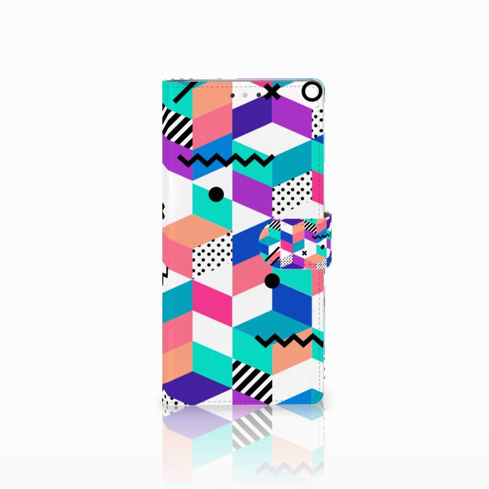HTC U Ultra Bookcase Blokken Kleurrijk