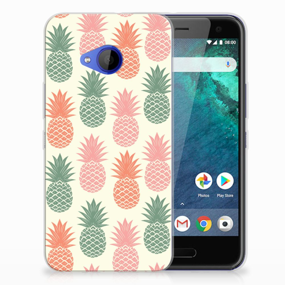 HTC U11 Life TPU Hoesje Design Ananas