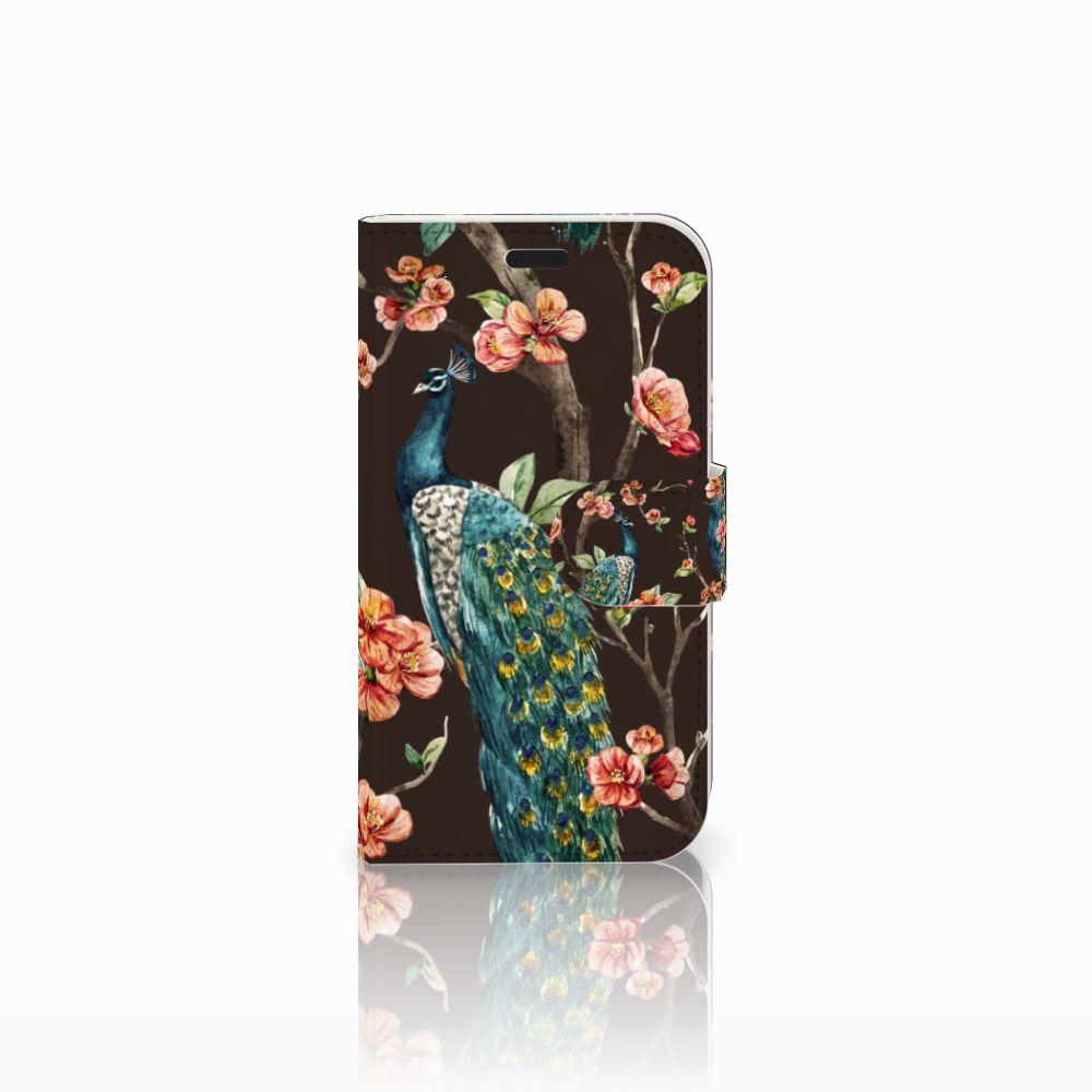 LG L Fino Boekhoesje Design Pauw met Bloemen