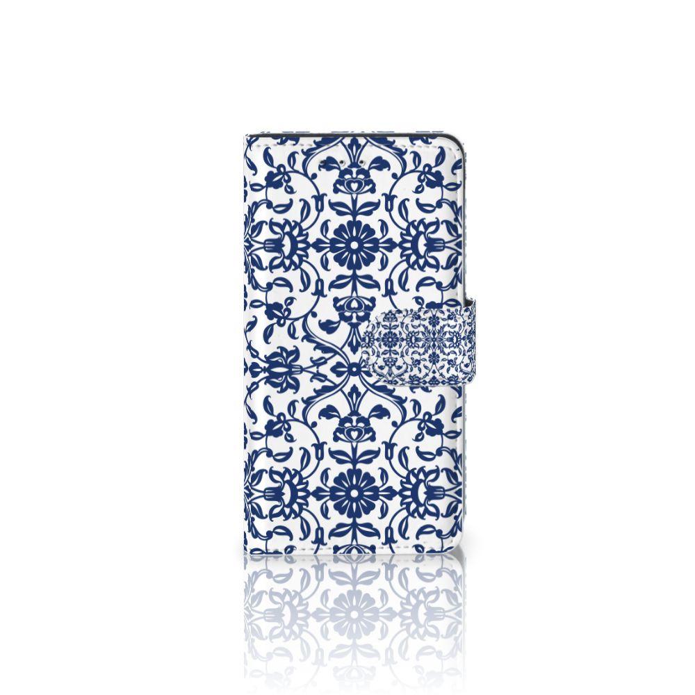 Motorola Moto G 3e Generatie Uniek Boekhoesje Flower Blue