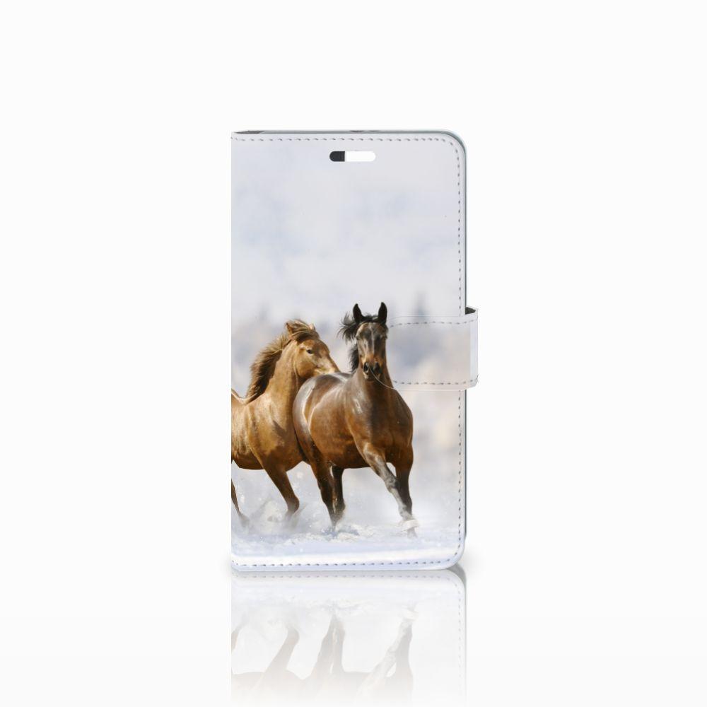 Huawei P9 Plus Uniek Boekhoesje Paarden