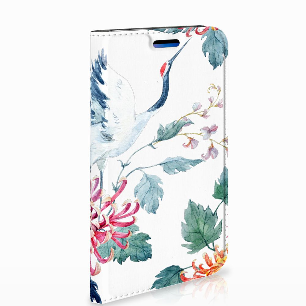 Apple iPhone X | Xs Uniek Standcase Hoesje Bird Flowers