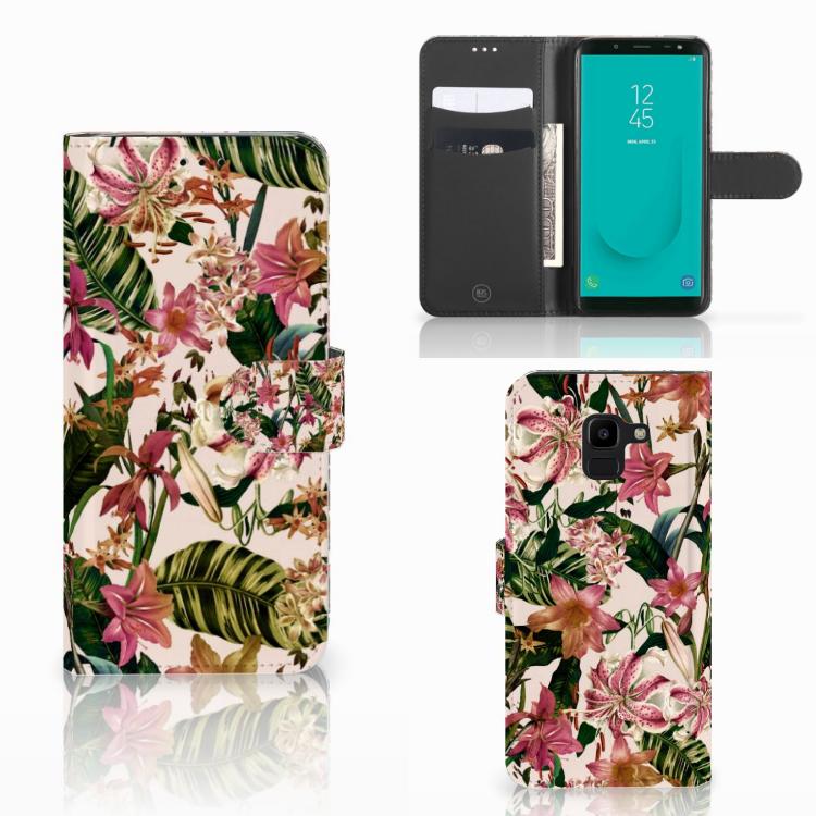 Samsung Galaxy J6 2018 Hoesje Flowers