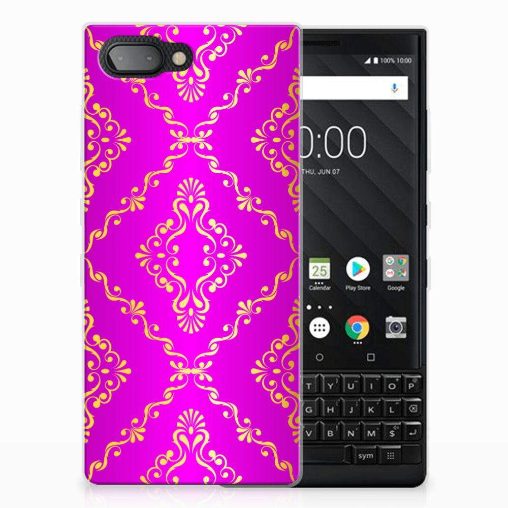Siliconen Hoesje BlackBerry Key2 Barok Roze
