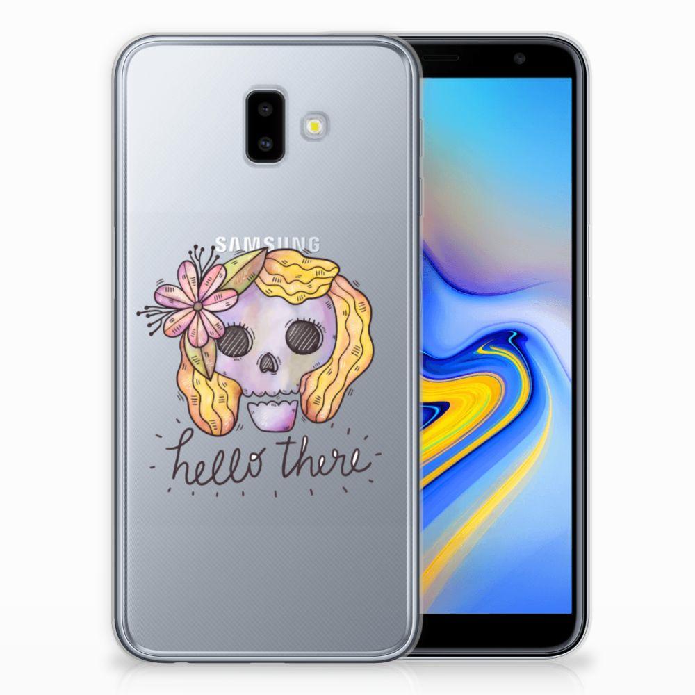 Silicone Back Case Samsung Galaxy J6 Plus (2018) Boho Skull