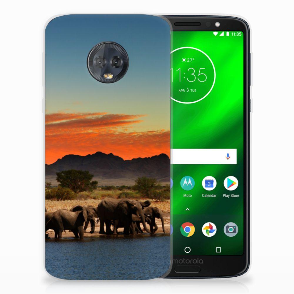Motorola Moto G6 Plus TPU Hoesje Design Olifanten