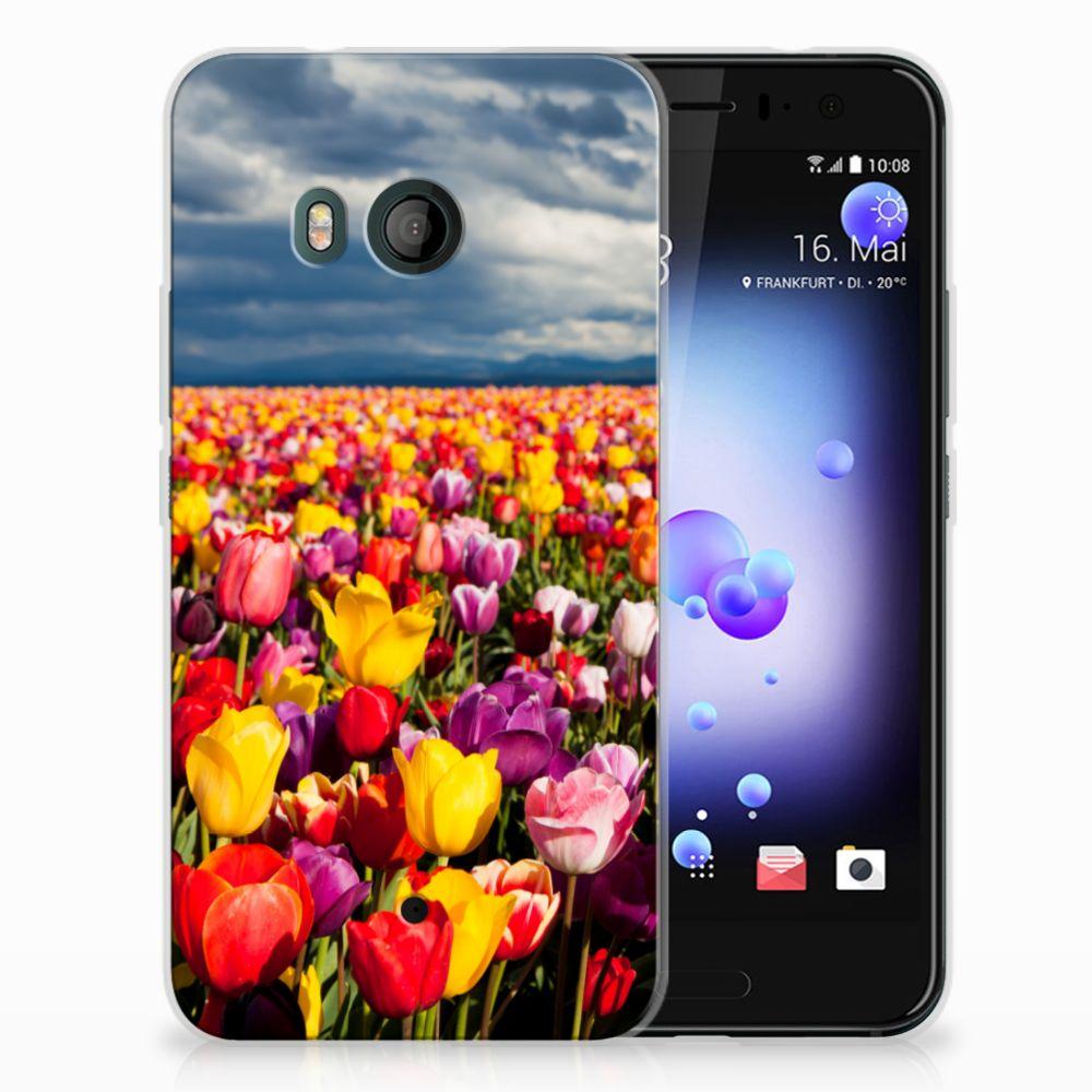 HTC U11 Uniek TPU Hoesje Tulpen