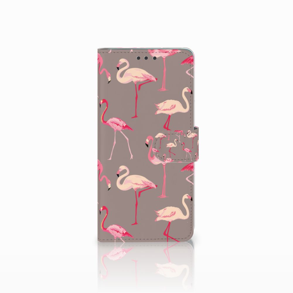 Huawei Mate 20 Uniek Boekhoesje Flamingo